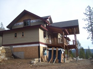 home builder near Sandpoint Idaho craftsman house Dan Fogarty Great Northern Builder