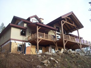 craftsman house near Sandpoint Idaho custom home builder Dan Fogarty Great Northern Builder