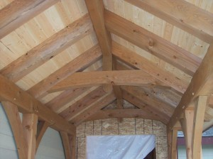 exposed beams wood beams interior custom home builder craftsman house Sandpoint Dan Fogarty Great Northern Builder