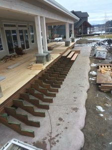 Waterfront Farmhouse - Porch Install - Craftsman House - custom home builder Dan Fogarty Great Northern Builder
